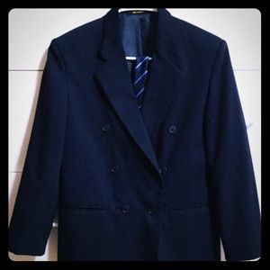 Boys  size 14, Navy blue, double breasted blazer.